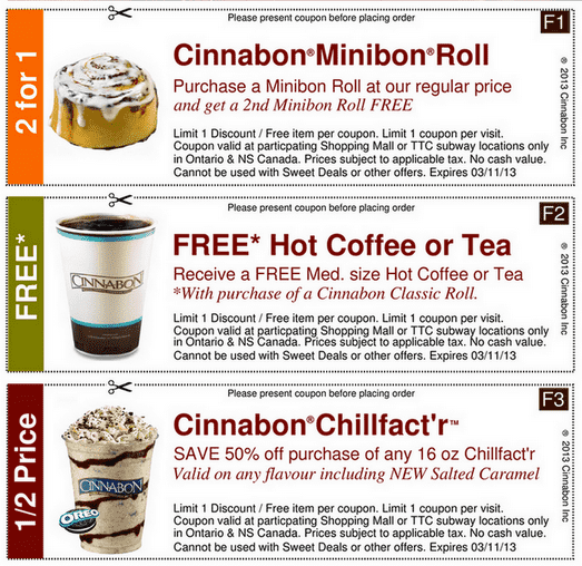printable coffee coupons canada