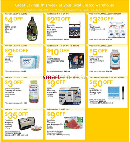 Costco 1 Costco Canada Eastern Weekly Instant Handouts: Ontario, Quebec & Atlantic, October 21to 27, 2013