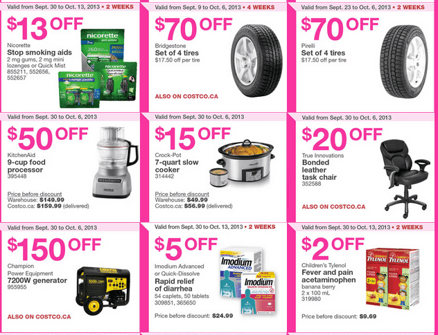 Costco warehouse coupons
