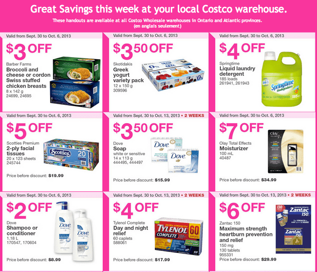 Costco warehouse Handouts Costco Wholesale Canada Weekly Handouts for Ontario & Atlantic: September 30 To October 6, 2013