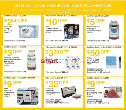 costco 2 Costco Canada Western Weekly Instant Handouts: British Columbia, Alberta, Saskatchewan & Manitoba, October 21 to 27, 2013