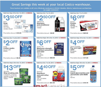 cw1 Costco Canada Western Weekly Instant Handouts: British Columbia, Alberta, Saskatchewan & Manitoba, October 7 to 13, 2013
