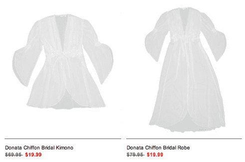 Bridal Robe Deal at La Vie En Rose1 La Vie en Rose Offers: Save 75% on Womens Lingerie White Robes Now For JUST $19.99 + Pajamas For $19.95!