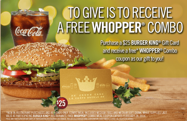 Bk coupons canada