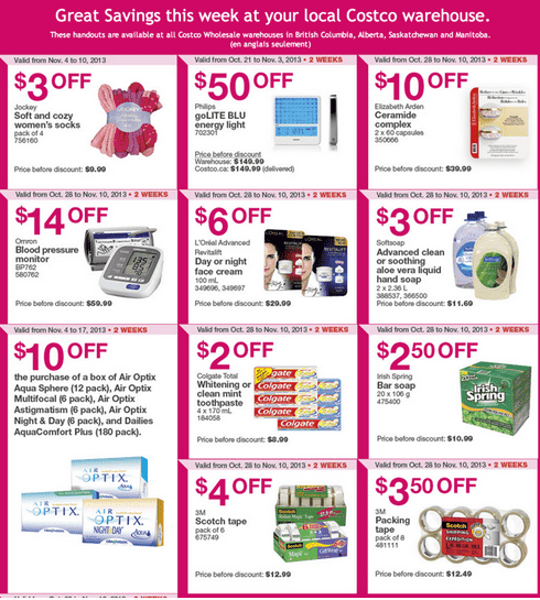 Costco 1 Costco Canada Western Weekly Instant Handouts: British Columbia, Alberta, Saskatchewan & Manitoba Monday, November 3 to 10, 2013