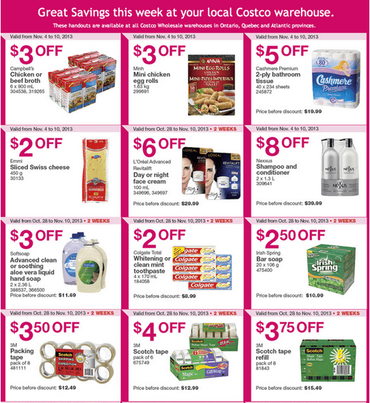 Costco 3 Costco Canada Eastern Weekly Instant Handouts: Ontario, Quebec & Atlantic, November 4   10, 2013
