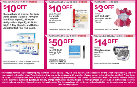 Costco 4 Costco Canada Eastern Weekly Instant Handouts: Ontario, Quebec & Atlantic, November 4   10, 2013
