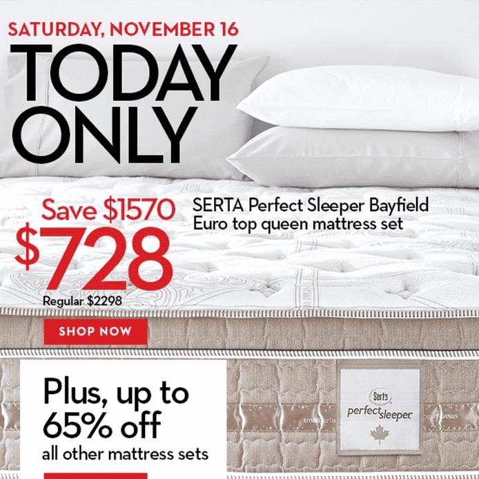 Hudson's Bay Canada fers Serta Perfect Sleeper Mattress