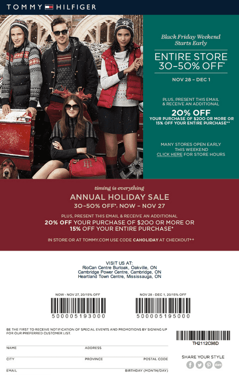 picture about Tommy Hilfiger Outlet Coupon Printable referred to as Tommy coupon codes canada / Wcco eating out discounts