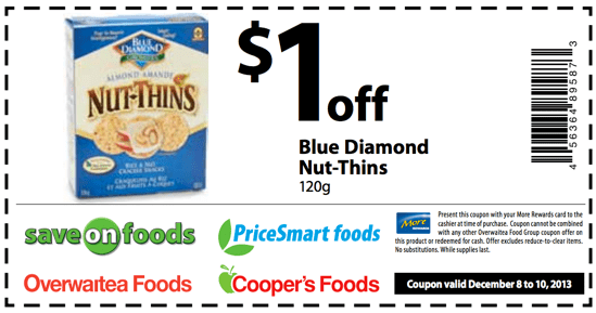 blue diamond coupons