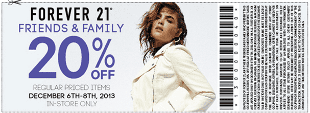 Forever21 Canada Friends and Family Coupon small  Forever21 Canada Friends & Family Coupon: Save 20% Off Regular Priced Items