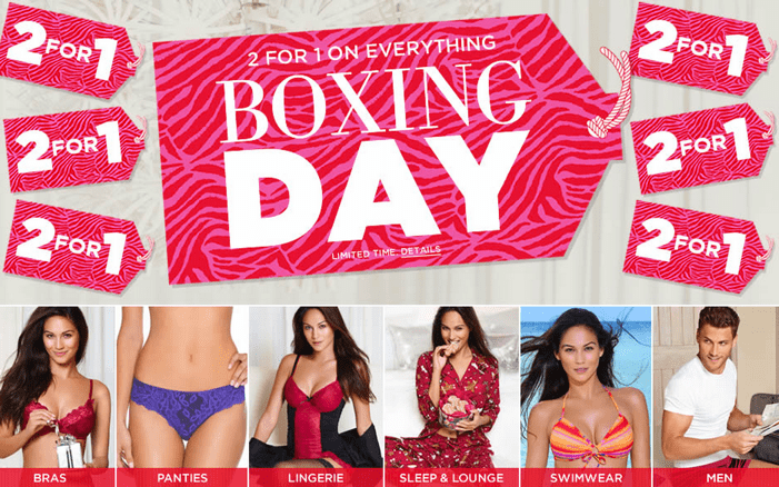 La Vie en Rose Canada Boxing Day Sale La Vie en Rose Canada Boxing Day Sale: 2 For 1 On Everything! NOW LIVE