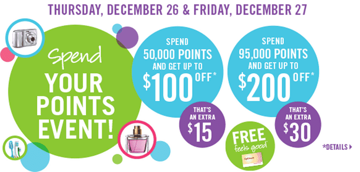 Shoppers Drug Mart Canada Boxing Day Offer Shoppers Drug Mart Canada Boxing Day Offer: Bonus Optimum Points Redemption for Two Days
