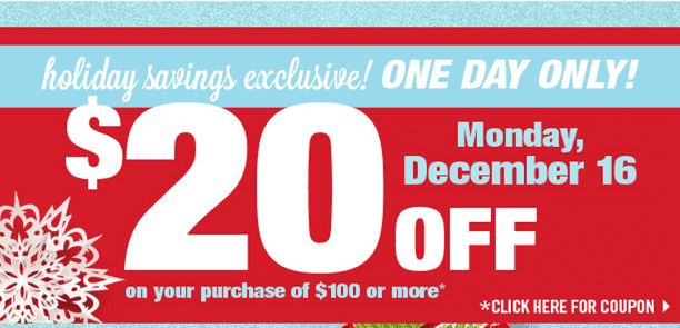 Shoppers Drug Mart Canada Offers1 Shoppers Drug Mart Canada Coupons: Save $20 off Your Purchase of $100, December 16