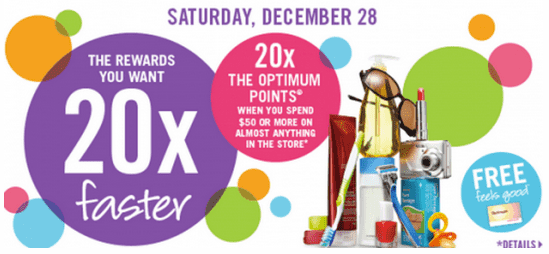 Shoppers Drug Mart Canada Shoppers Drug Mart Canada Offers: Get 20x the Optimum Points with a Purchase of $50, December 28
