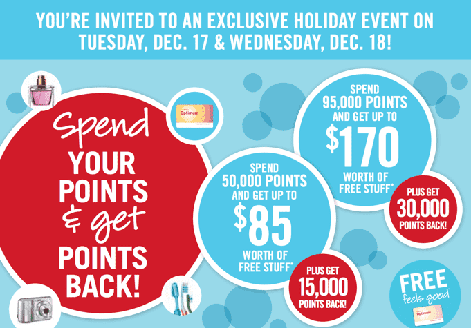 Shoppers Drug Mart Redemption Point Offers Shoppers Drug Mart Offers: Spend Your Points & Get Points Back! Redemption Event December 17 &18