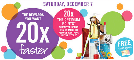 Shoppers Drug Mart Shoppers Drug Mart Canada Deals: Spend $75 And Get 20x the Shoppers Optimum Points