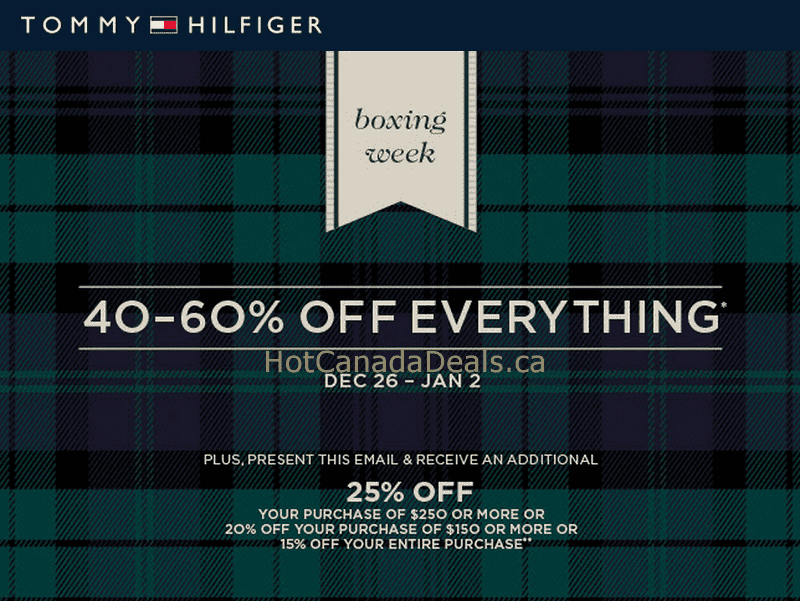 tommy hilfiger canada boxing day Tommy Hilfiger Canada Boxing Day Sale (Boxing Week Deals 2013)