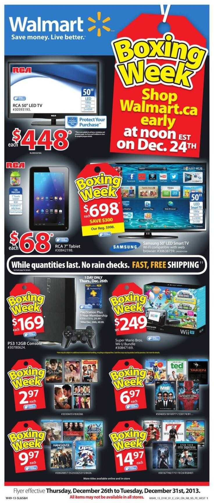 walmart boxing day flyer 01 Walmart Boxing Day Flyer 2013   2014