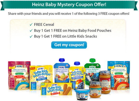 Heinz baby cereal coupons