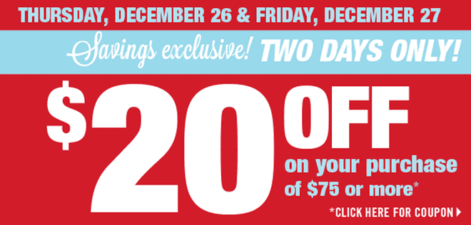 z1387909508 small Shoppers Drug Mart Boxing Day Canada Offers: Save $20 on Your Purchase of $75, December 26 & 27