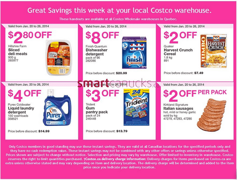 Costco Canada 1 Costco Quebec Canada Flyers/Coupons for Jan 20 – 26, 2014