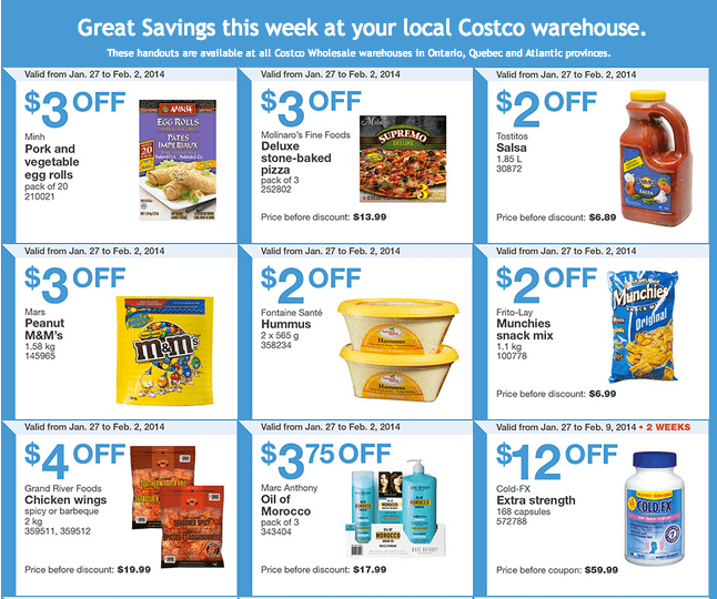 Costco East 1 Costco Canada Eastern Weekly Instant Handouts: Ontario, Quebec & Atlantic, January 27 to February 2, 2014