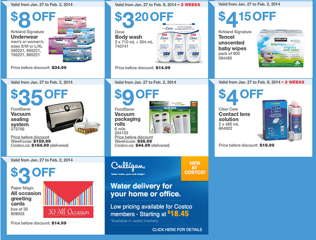 Costco East 2 Costco Canada Eastern Weekly Instant Handouts: Ontario, Quebec & Atlantic, January 27 to February 2, 2014