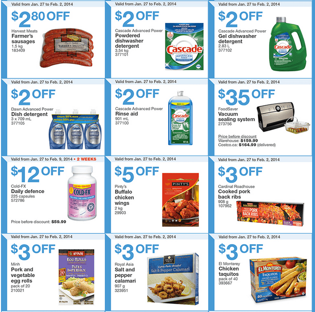Costco West 2 Costco Canada Western Weekly Instant Handouts: British Columbia, Alberta, Saskatchewan & Manitoba, January 27 to February 2, 2014