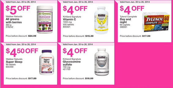 costco 5 Costco Canada Flyers/Coupons for (Ontario & Atlantic) From January 20 – 26, 2014