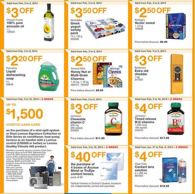 Costco East 2 Costco Canada Eastern Weekly Instant Handouts: Ontario, Quebec & Atlantic, February 3   9, 2014