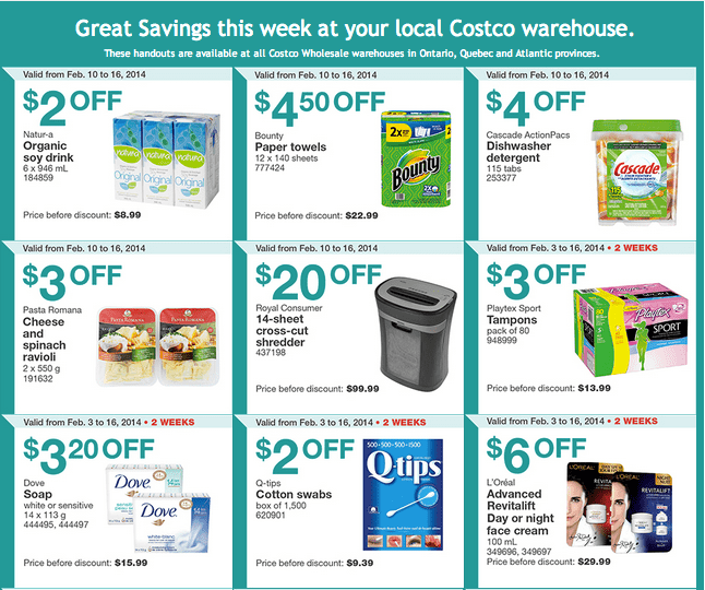 Costco e 1 Costco Canada Eastern Weekly Instant Handouts: Ontario, Quebec & Atlantic From February 10 to 16, 2014