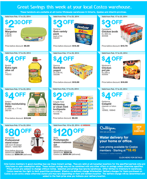 Costco e 11 Costco Canada Eastern Weekly Instant Handouts: Ontario, Quebec & Atlantic From February 17 to 23, 2014