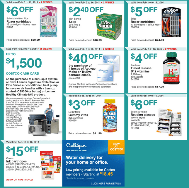 Costco e 2 Costco Canada Eastern Weekly Instant Handouts: Ontario, Quebec & Atlantic From February 10 to 16, 2014