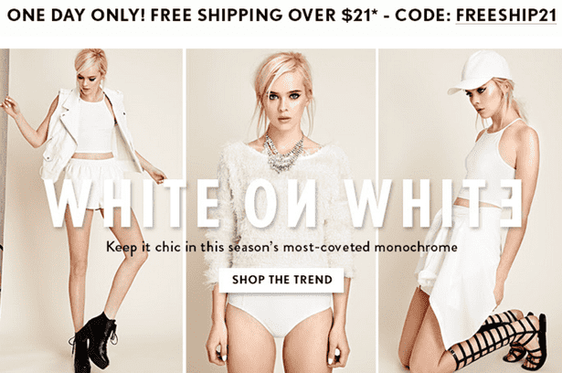 Forever 21 Coupon Code Free Shipping | Mega Deals and Coupons