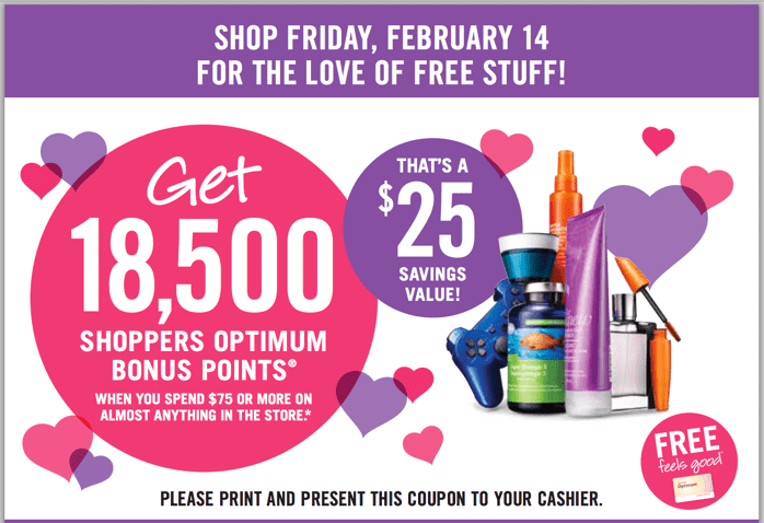 Shoppers Drug Mart Canada Coupon offer Shoppers Drug Mart Canada Coupons: Get 18,500 Optimum Bonus Points On Your $75 Purchase