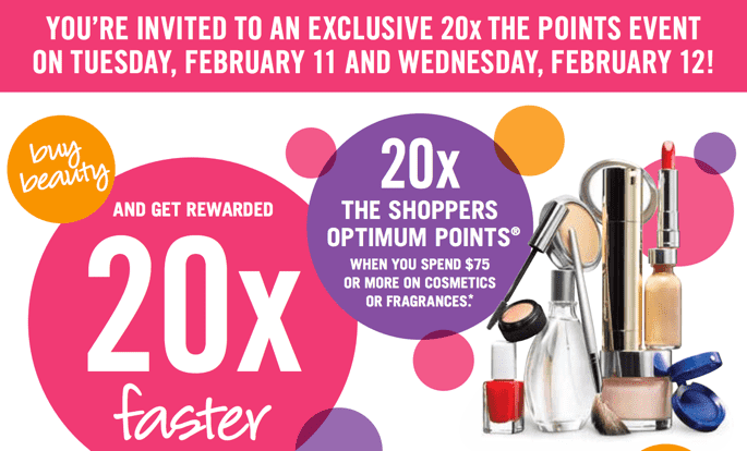 Shoppers Drug Mart Canada Printable Coupons Shoppers Drug Mart Canada Printable Coupons: Get 20x Optimum Points when You Spend $75 on Cosmetics & Fragrance