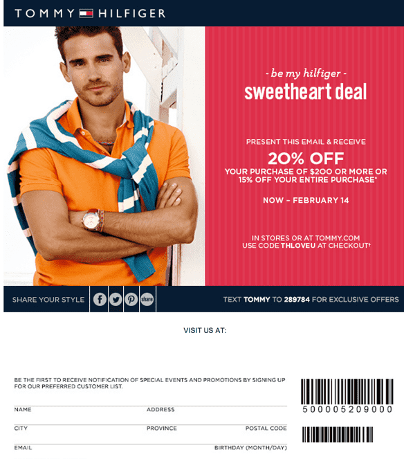 picture regarding Tommy Hilfiger Coupon Printable named Tommy hilfiger coupon printable canada : Ps3 console discount coupons