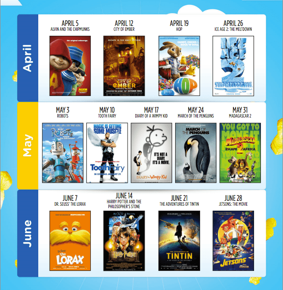 Cineplex 1 Cineplex Canada Family Favourites Deals: Enjoy Your Movies For $2.50 Only, Every Saturday!