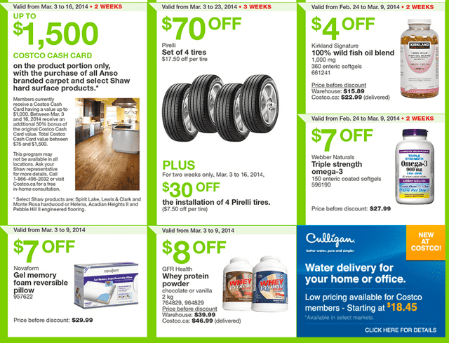 Costco Canada Weekly Handouts Costco Canada Eastern Weekly Instant Handouts Flyers: Ontario, Quebec & Atlantic, March 3 to 9, 2014