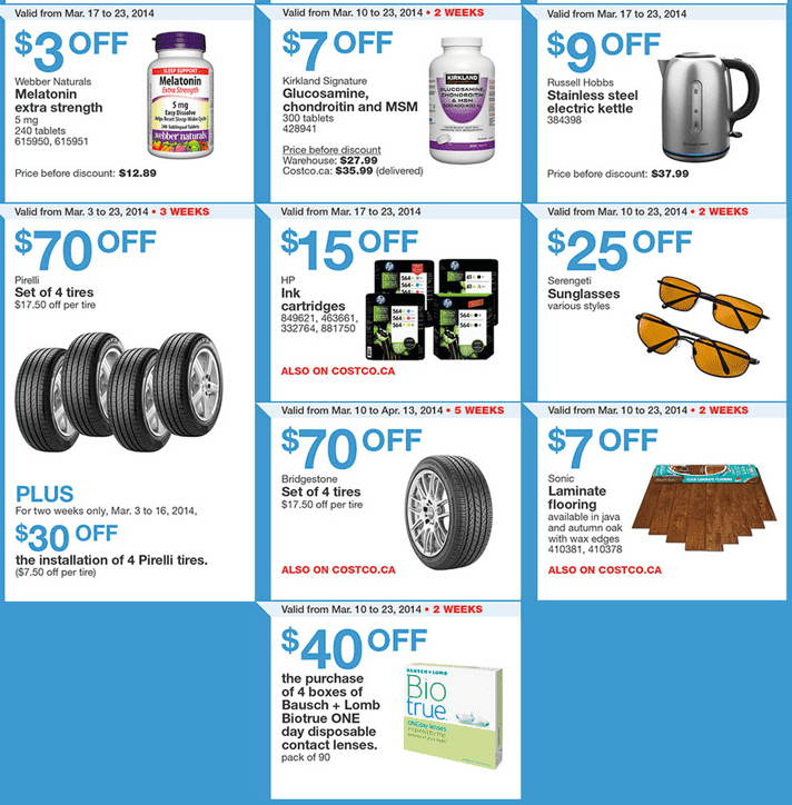Costco Canada Western Weekly Instant Handouts Coupons  Costco Canada Weekly Instant Handouts Coupons For British Columbia, Alberta, Saskatchewan & Manitoba, March 17 To March 23, 2014