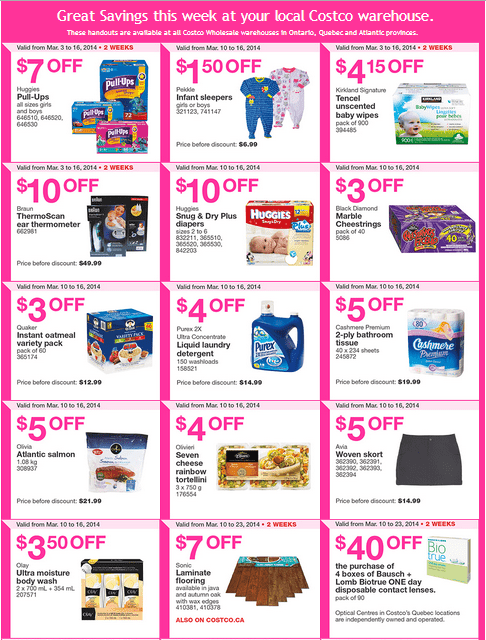Costco e 1 Costco Canada Eastern Weekly Instant Handouts Flyers: Ontario, Quebec & Atlantic, March 10 to 16, 2014