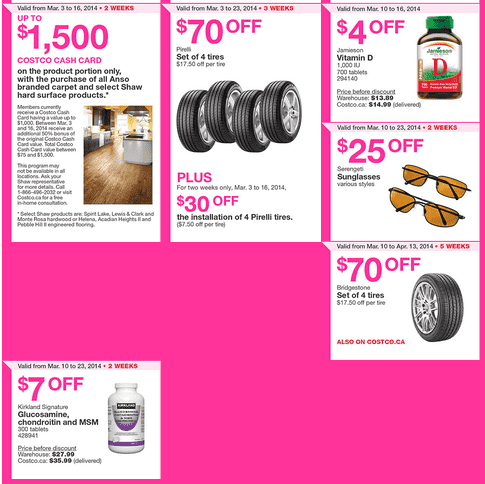 Costco e 2 Costco Canada Eastern Weekly Instant Handouts Flyers: Ontario, Quebec & Atlantic, March 10 to 16, 2014