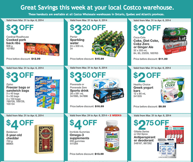 Costco east 1 Costco Canada Eastern Weekly Instant Handouts Flyers: Ontario, Quebec & Atlantic, March 31 To April 6, 2014
