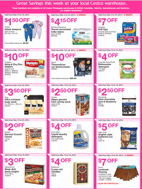 Costco w 1 Costco Canada Western Weekly Instant Handouts Flyers: British Columbia, Alberta, Saskatchewan & Manitoba, From March 10 to 16, 2014