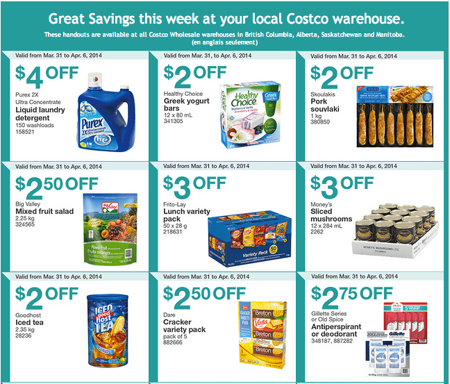 Costco west 1 Costco Canada Weekly Instant Handouts Coupons For British Columbia, Alberta, Saskatchewan & Manitoba, March 31 To April 6, 2014