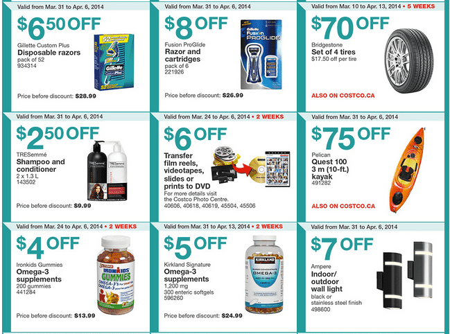 Costco west 2 Costco Canada Weekly Instant Handouts Coupons For British Columbia, Alberta, Saskatchewan & Manitoba, March 31 To April 6, 2014