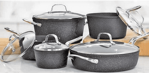 Heritage The Rock Non Stick Cookware Set Canadian Tire Sale: Save 70% On 10 Piece Heritage 'The Rock' Non Stick Cookware Set NOW $129.99 (Reg $439.99) + $23.99 For 30cm Frypan!