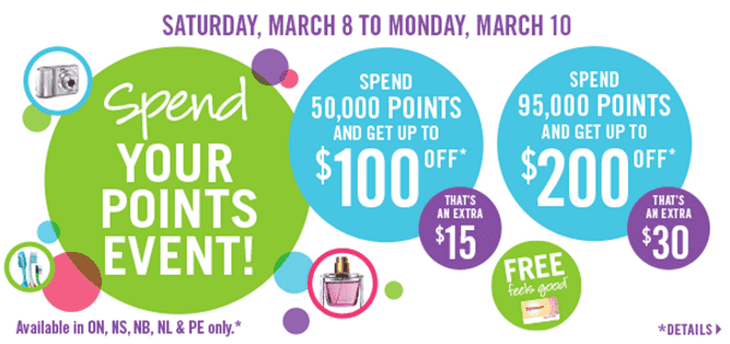 Shoppers Drug Mart Offers Shoppers Drug Mart Canada Optimum Bonus Points Redemption: Spend Your Points Event