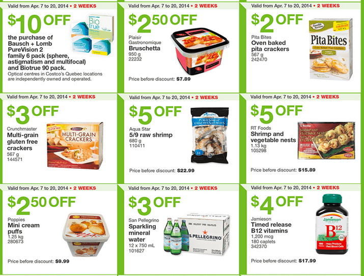 Costco Canada Eastern Weekly Coupons Costco Canada Weekly Handouts Coupons: Ontario, Quebec & Atlantic Monday, April 7 13